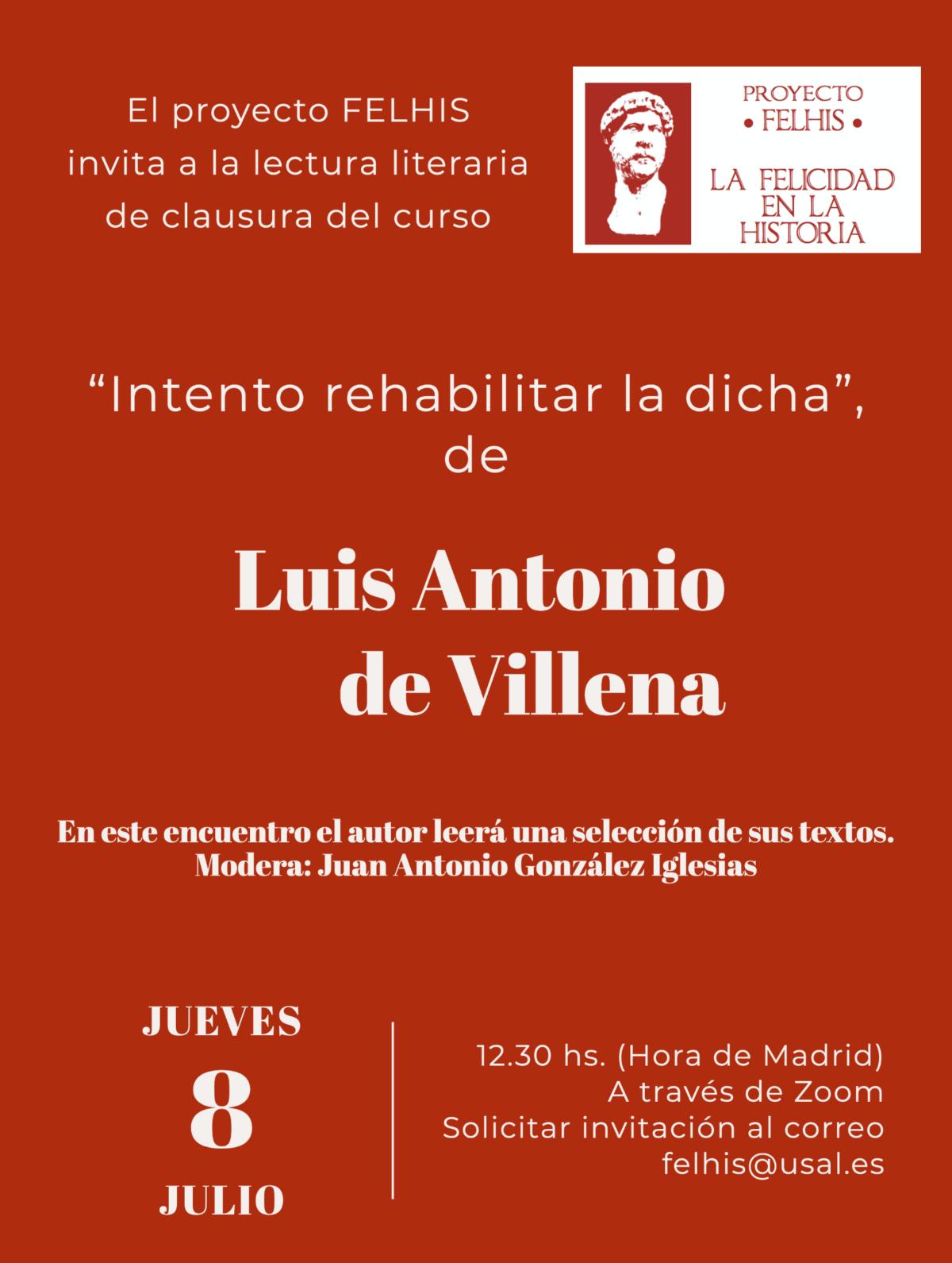 Lectura de Luis Antonio de Villena